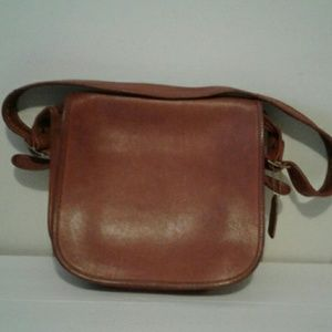 Vintage Coach Leather Foldover Handbag